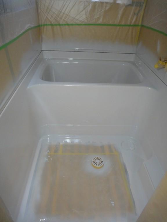 浴室リメイク施工中